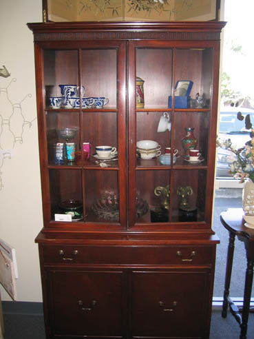 Red Umbrella: Duncan Phyfe China Cabinet