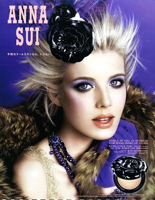overshop2: Anna Sui cosmetics fall 2009 campaign: Agyness Deyn