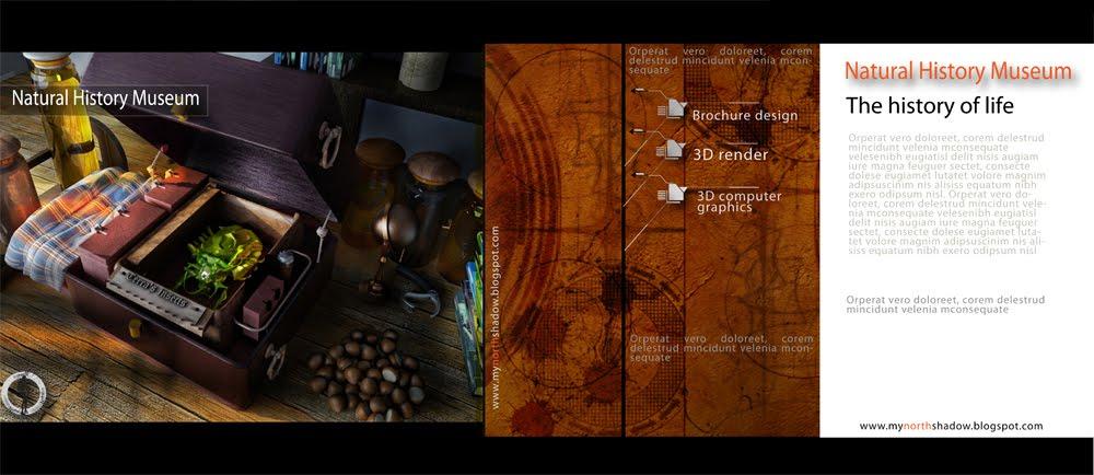 Brochure design 3d 3d art of my north shadow for 3d brochure design