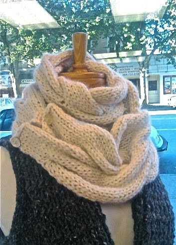 Free Knitting Pattern Long Cowl : Gina Browns : New Free Pattern! Cable Cowl