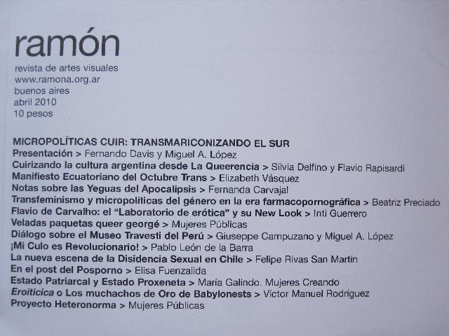 RAMON MAGAZINE NO. 99 'MICROPOLITICAS CUIR: TRANSMARICONIZANDO EL SUR' OUT ...