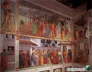 2. Técnicas y medios de la pintura y el dibujo Masaccio-Capilla+Brancacci