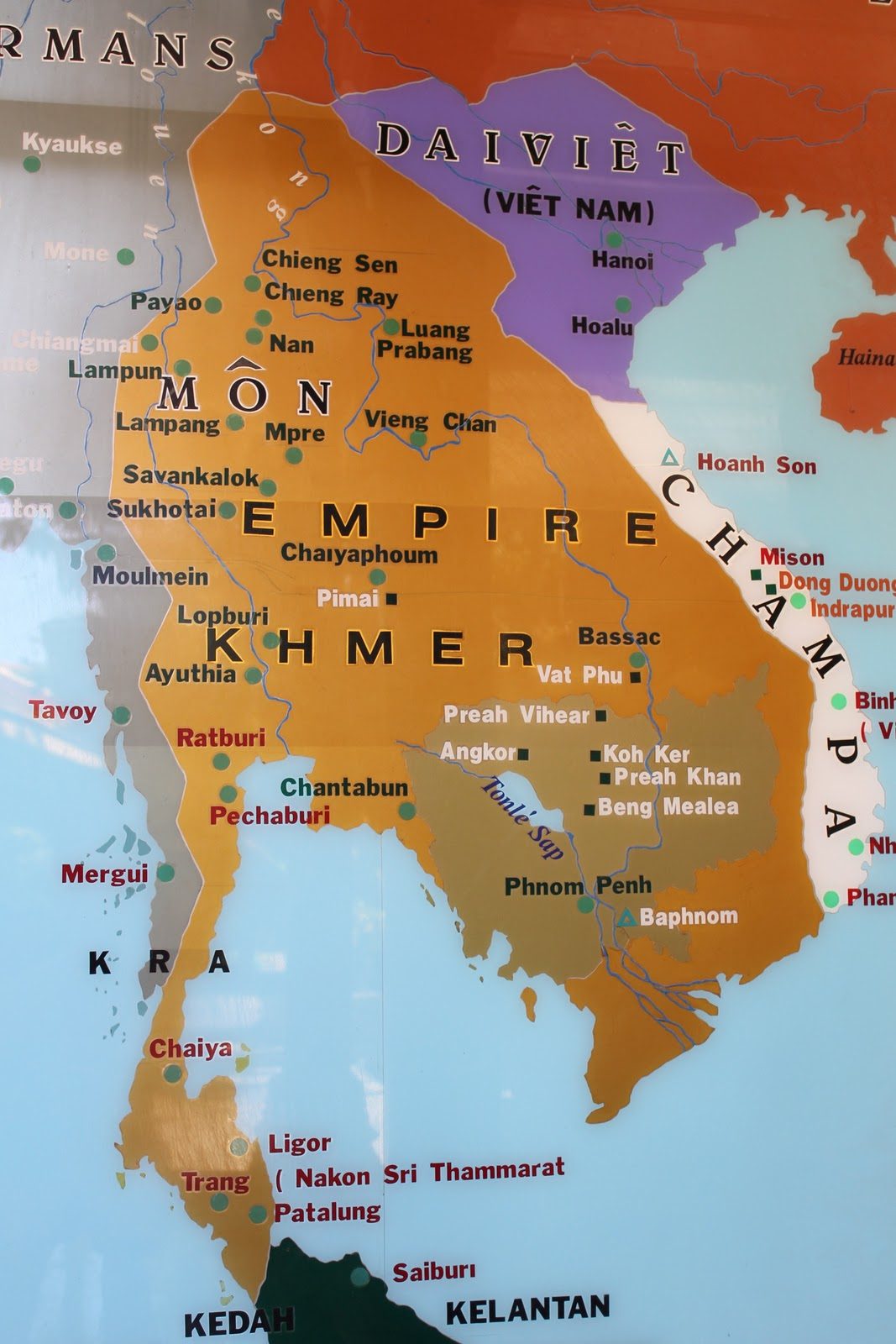 Image result for khmer empire map