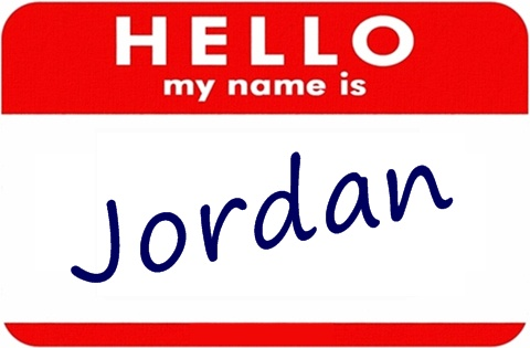 Jordan is my name.