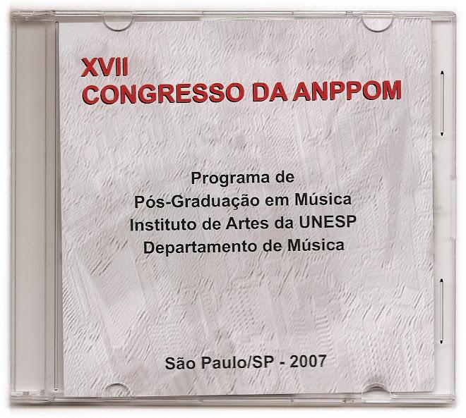 CD ROM - XVII Congresso de Iniciação Científica da UNESP (capa)