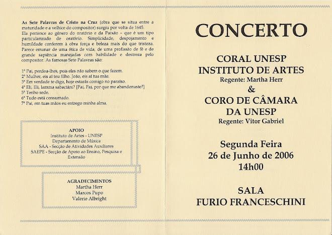 CONCERTO - Sala Fúrio Franceschini