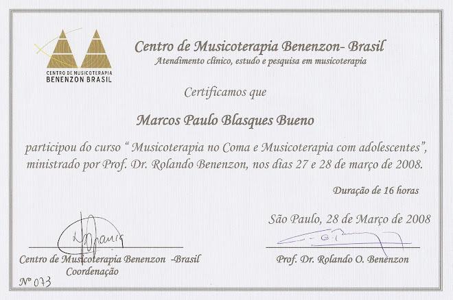 CURSO Musicoterapia no Coma e Musicoterapia com Adolescentes - Prof. Dr. Rolando Benenzon