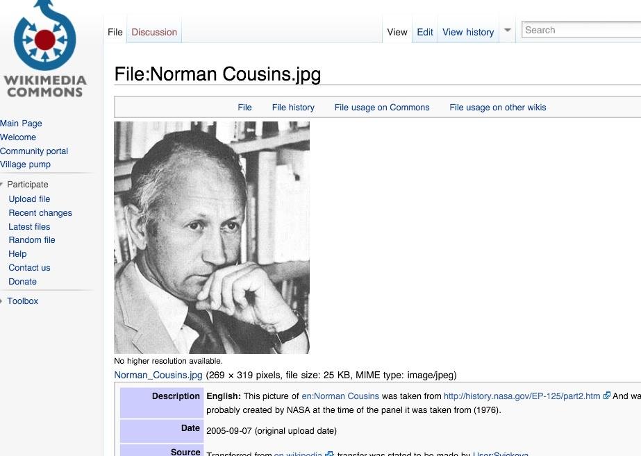 Artikel und Beiträge: Norman Cousins