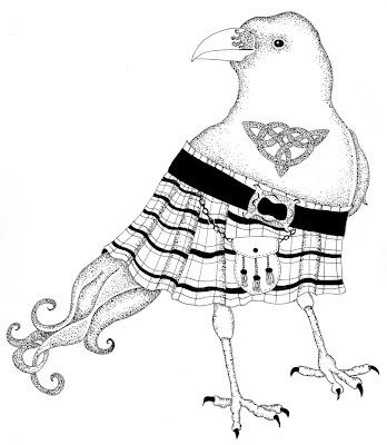 Raven in Kilt