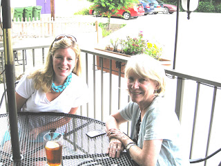 Elizabeth Bagley and Annette Smith at Cafe Azalea