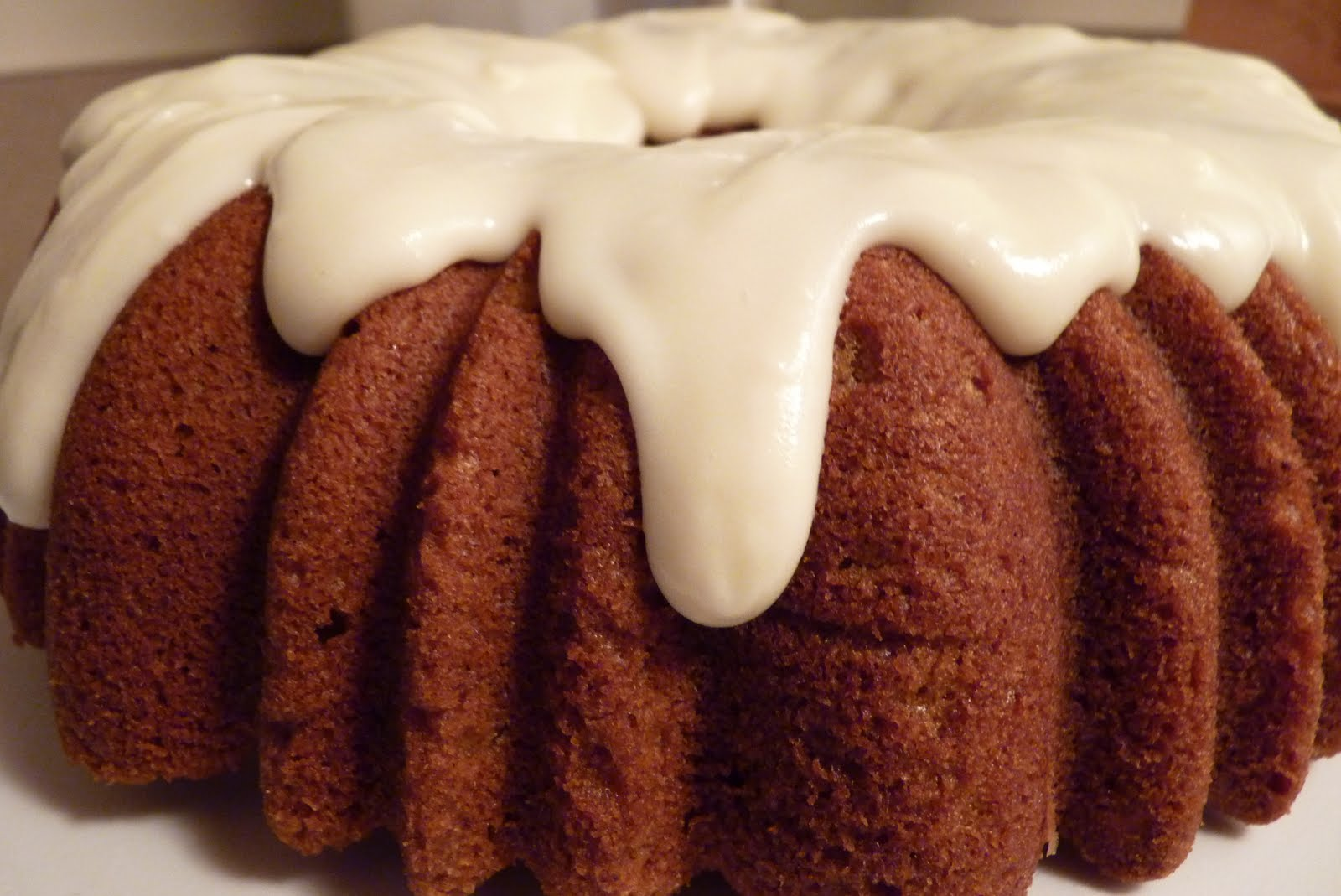 BrunetteBaker: Pumpkin Bundt Cake with Cream Cheese Glaze