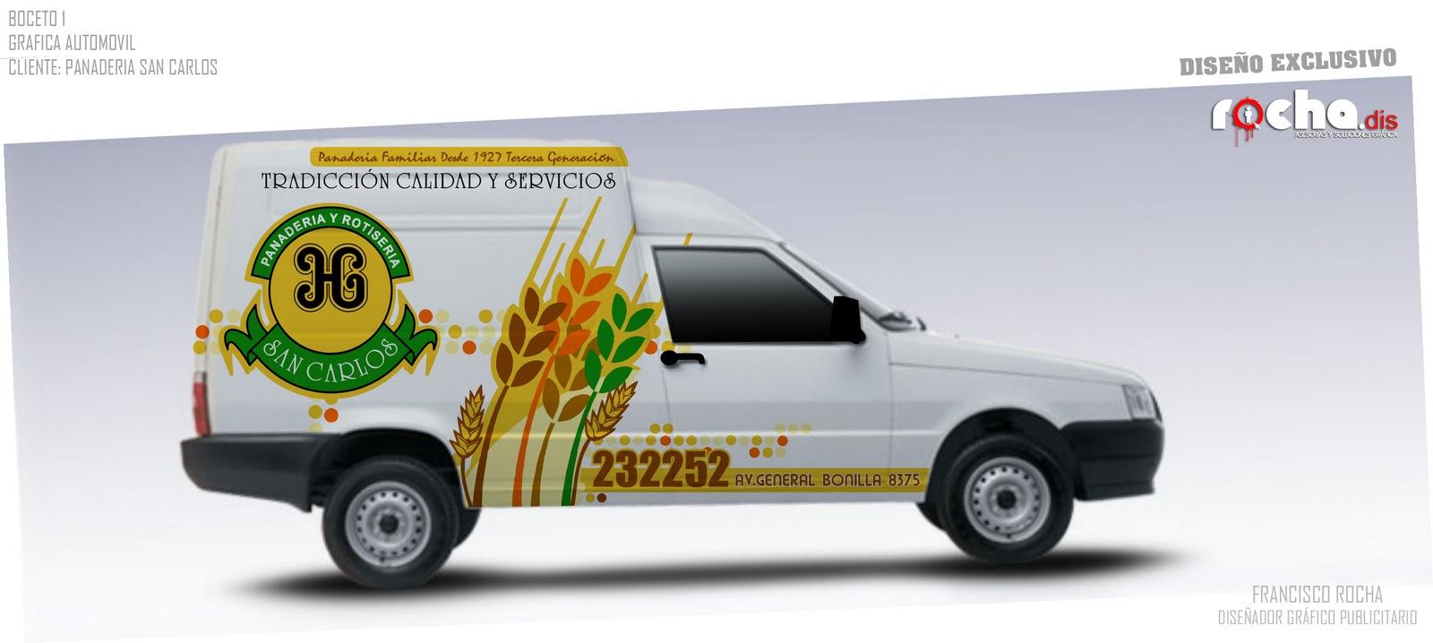 Grafica Vehicular / Panaderia San Carlos