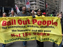 Bail Out the People Movement Demonstration on Wall Street, April 4, 2009
