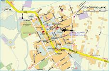 mapa Janów Podlaski -