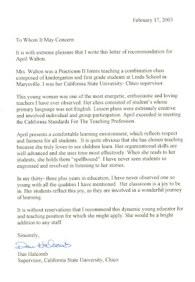 Letter Of Recommendation Sample For Preschool Teacher. Letters Of ...