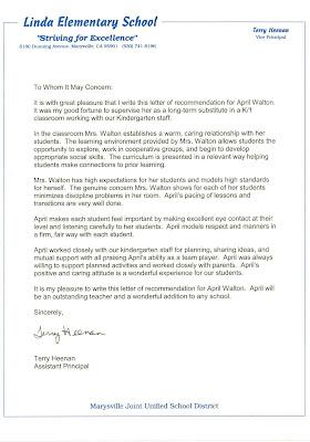 Letter Of Recommendation Sample For Preschool Teacher. Sample ...