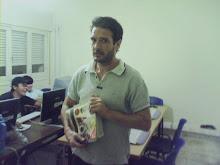 periodista en acción