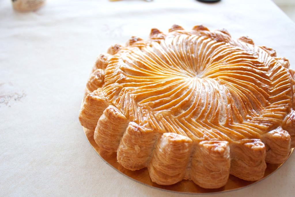 ... this time we made pithiviers puff pastry cake with almond cream and