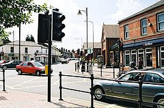 The busy crossroads in Stockton Heath