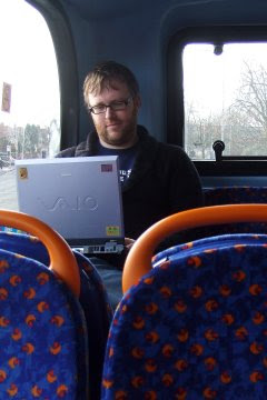 Blogging on the bus