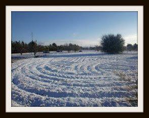 Primera nevada en Albacete 3 de diciembre, aún Otoño...