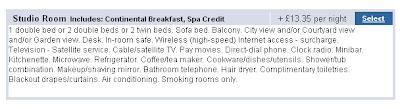 Unclear holiday booking screengrab