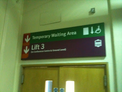 Temporary waiting area