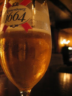 Glass of Kronenbourg 1664