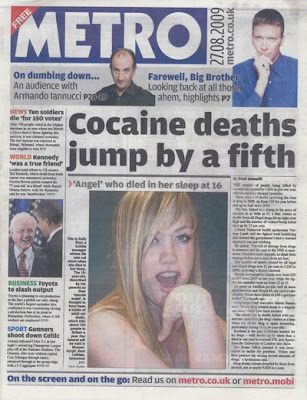 Metro front cover from 27 August