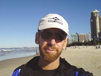 Me on the beach at Surfers Paradise, 2007