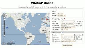 Propagação online-VOACAP