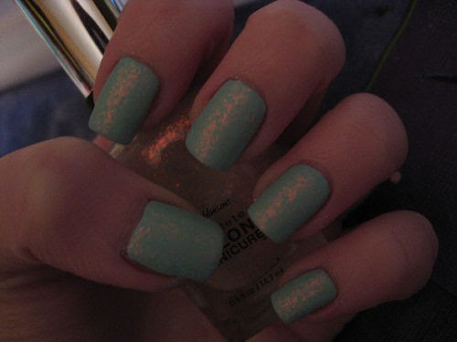 attackedastoria nails mint candy
