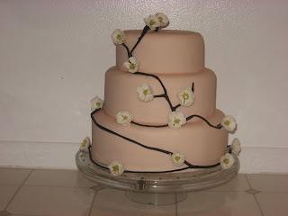 pink cake, cherry blossom cake, las vegas wedding cakes