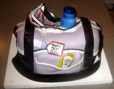 Sports cake, running cake, duffle bag cake, Las Vegas Cakes