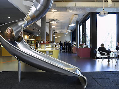Slides inside Google office