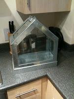 galvanised miniture glasshouse from habitat