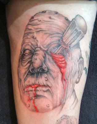 Scary Evil Tattoo