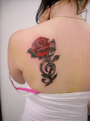 Feminine Back Tattoo - Flower Tattoo