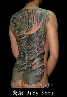 Full Back Tattoo Design - male Tattoo