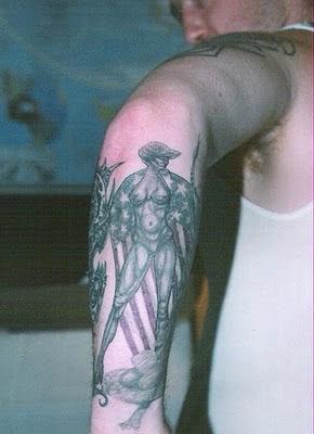 Miss America Tattoo Design on Male Arm