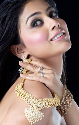 Shriya Saran in Diamond Necklace Set