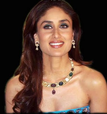 Kareena Kapoor with GemStone Necklace set