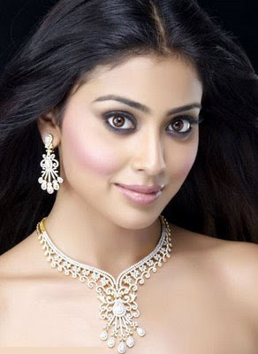 Actress Shriya in Diamond Necklace Set