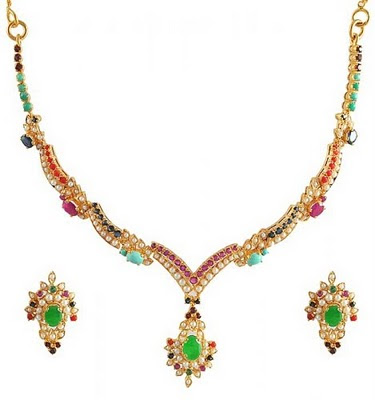 beautiful fashion gold necklace set