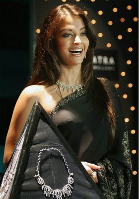 Bollywood actress aishwarya rai in Designer Diamond Jewellery