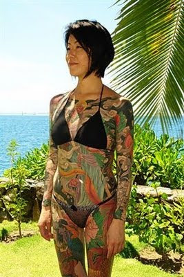 Japanese Girl Full Body Tattoo
