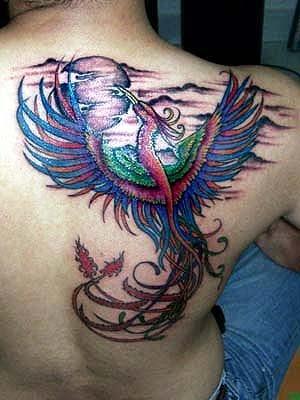Tattoo phoenix tattoo design on back for Phoenix tattoo on back