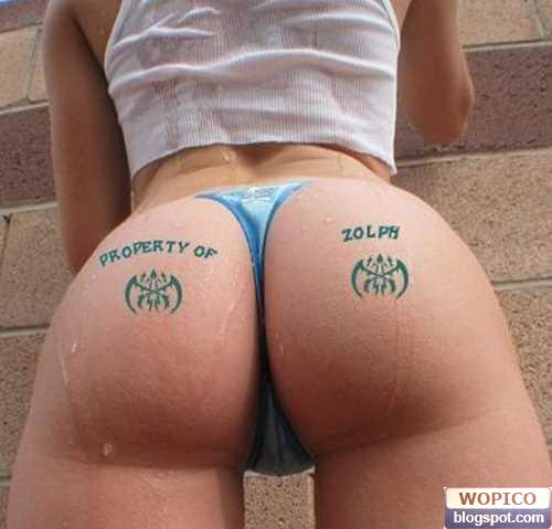 These Tattoo's Are Assinine! I Mean, Asinine! tattooed ass