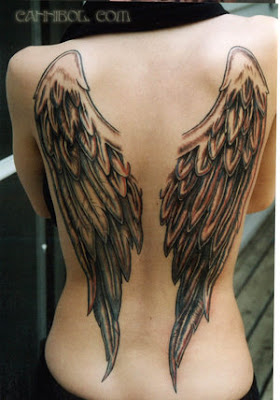 Angels Wing tattoo Design on Back Body