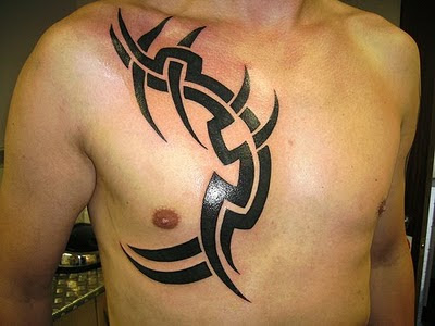 Strength Of Men Tribal Back Tattoo Design Art Simple Tribal Tattoo - Back Tattoo